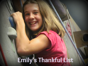 Emily s Thankful List