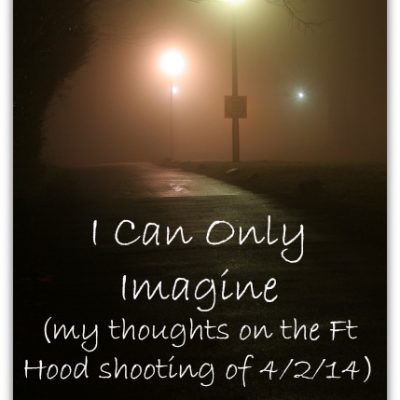 I Can Only Imagine (my thoughts on the Ft Hood shooting of 4/2/14)