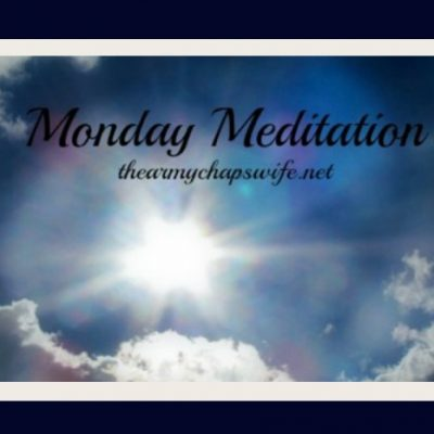 Monday Meditation (and an update)
