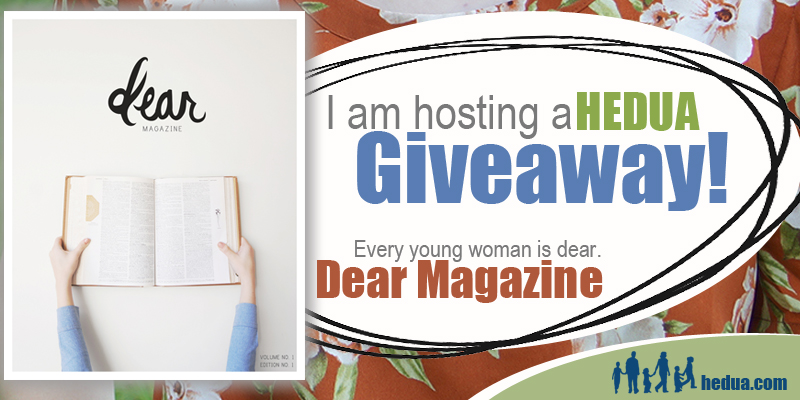 "It's a giveaway for the new ""Dear"" magazine from Home Educating Family!"